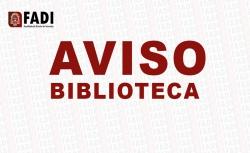 AVISO BIBLIOTECA