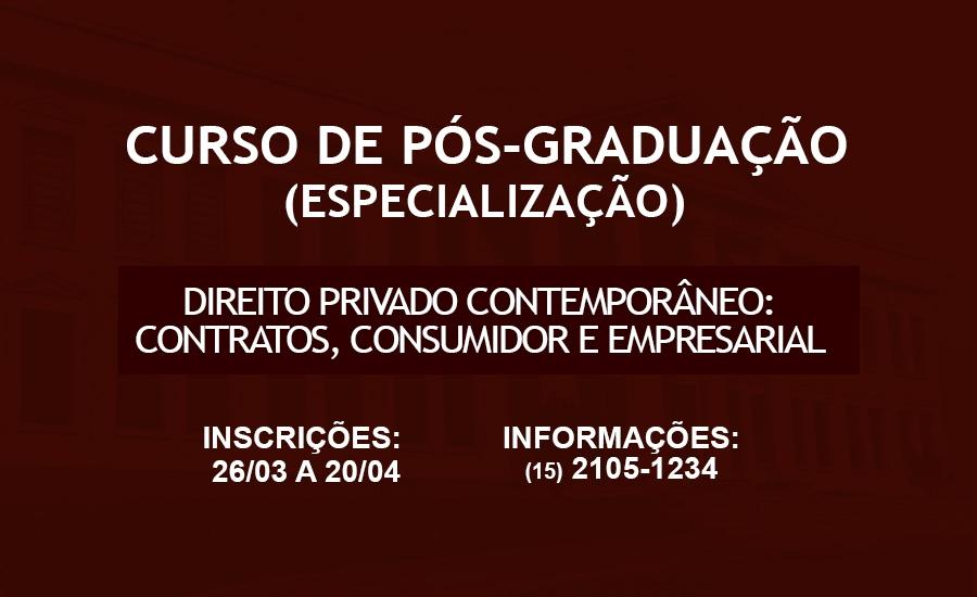 CURSO DE PÓS-GRADUAÇÃO